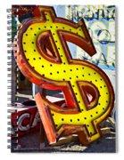 Old Dollar Sign Spiral Notebook