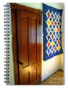 Old Door - New Quilt Spiral Notebook