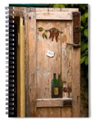 Old Door And Wine Spiral Notebook