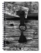Old Door Latch Spiral Notebook