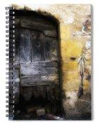 Old Door With Street Art Spiral Notebook
