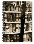 Old Drug Store Goods Spiral Notebook