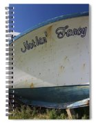 Old Dry Docked Boat Spiral Notebook