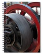 Old Economy Gas Engine On Display At A County Fair Spiral Notebook