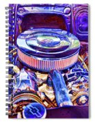 Old Engine Of American Car Spiral Notebook