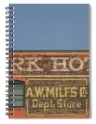 Old Faded Advertisement On An Old Brick Building Spiral Notebook