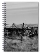 Old Farm Equipment Bereft Baw Spiral Notebook