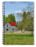 Old Farm House In Langley Spiral Notebook