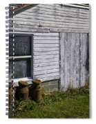 Old Farm Milk Cans Spiral Notebook