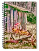 Old Farm Tools Spiral Notebook
