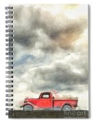 Old Farm Truck Pencil Spiral Notebook