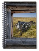 Old Farm Wagon Viewed Through A Barn Window Spiral Notebook