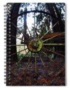 Old Farm Wagon Wheel Spiral Notebook