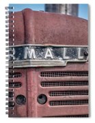 Old Farmall Tractor Grill And Nameplate Spiral Notebook