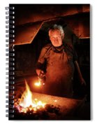 Old-fashioned Blacksmith Heating Iron Spiral Notebook