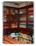 Old-fashioned Fabric Shop Spiral Notebook