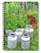 Old Fashioned Milk Churns Spiral Notebook