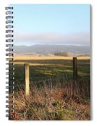 Old Fence And Landscape Along Sir Francis Drake Boulevard At Point Reyes California . 7d9965 Spiral Notebook