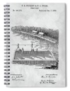 Old Ferryboat Patent Spiral Notebook
