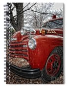 Old Fire Truck Spiral Notebook