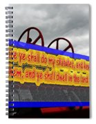 Old Fire Truck With Text 3 Spiral Notebook