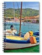 Old Fishermen Harbor Of Stari Grad Spiral Notebook