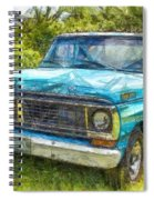Old Ford Pick Up Truck Pencil Spiral Notebook