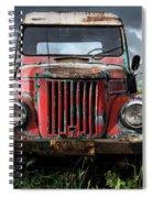 Old Forgotten Red Car Spiral Notebook