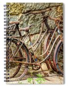 Old French Bicycles Spiral Notebook