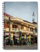 Old French Colonial Architecture In Kampot Town Street Cambodia Spiral Notebook