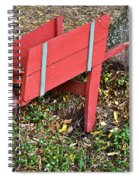 Old Garden Wheel Barrow Spiral Notebook