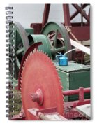 Old Gas Engine And Saw Blade At A County Fair Spiral Notebook