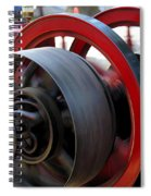 Old Gas Engine With Digital Effects Spiral Notebook