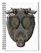 Old Gas Mask Spiral Notebook