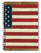 Old Glory Displayed On Wood Spiral Notebook