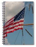 Old Glory Flying Over Eagle Spiral Notebook