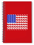 Pixilated Old Glory Spiral Notebook