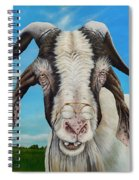 Old Goat - Painting By Cindy Chinn Spiral Notebook
