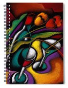 Wine And Flowers Spiral Notebook