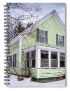 Old Green And White New Englander Home Spiral Notebook