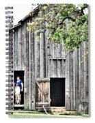 Old Grey Barn With Vistors Spiral Notebook