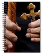 Old Hands And Crucifix  Spiral Notebook