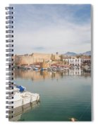 Old Harbour Of  Kyrenia, In Cyprus Spiral Notebook