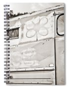 Old Hippie Peace Van Spiral Notebook