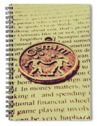 Old Horoscope Of Gemini Spiral Notebook