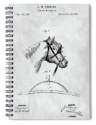 Old Horse Blinker Patent Spiral Notebook