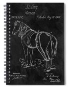 Old Horse Harness Patent  Spiral Notebook