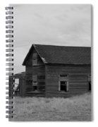 Old House And Windmill North Dakota  Spiral Notebook