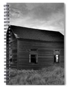Old House In A Barren Field Spiral Notebook