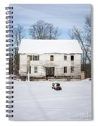 Old House In The Snow Springfield New Hampshire Spiral Notebook